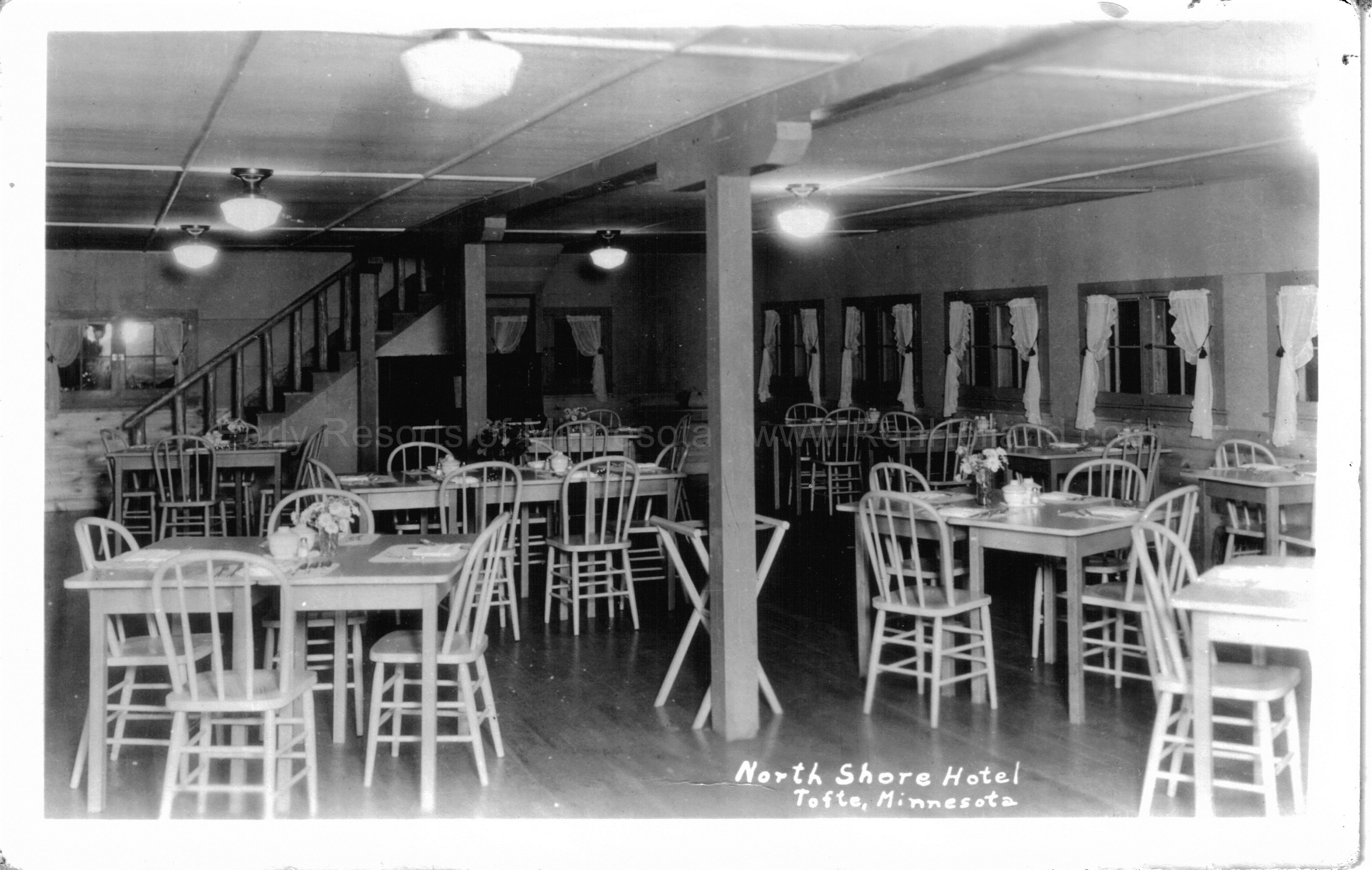 early resorts of minnesota photos ren holland s website 10h 5 north shore hotel dining room tofte ca 1940