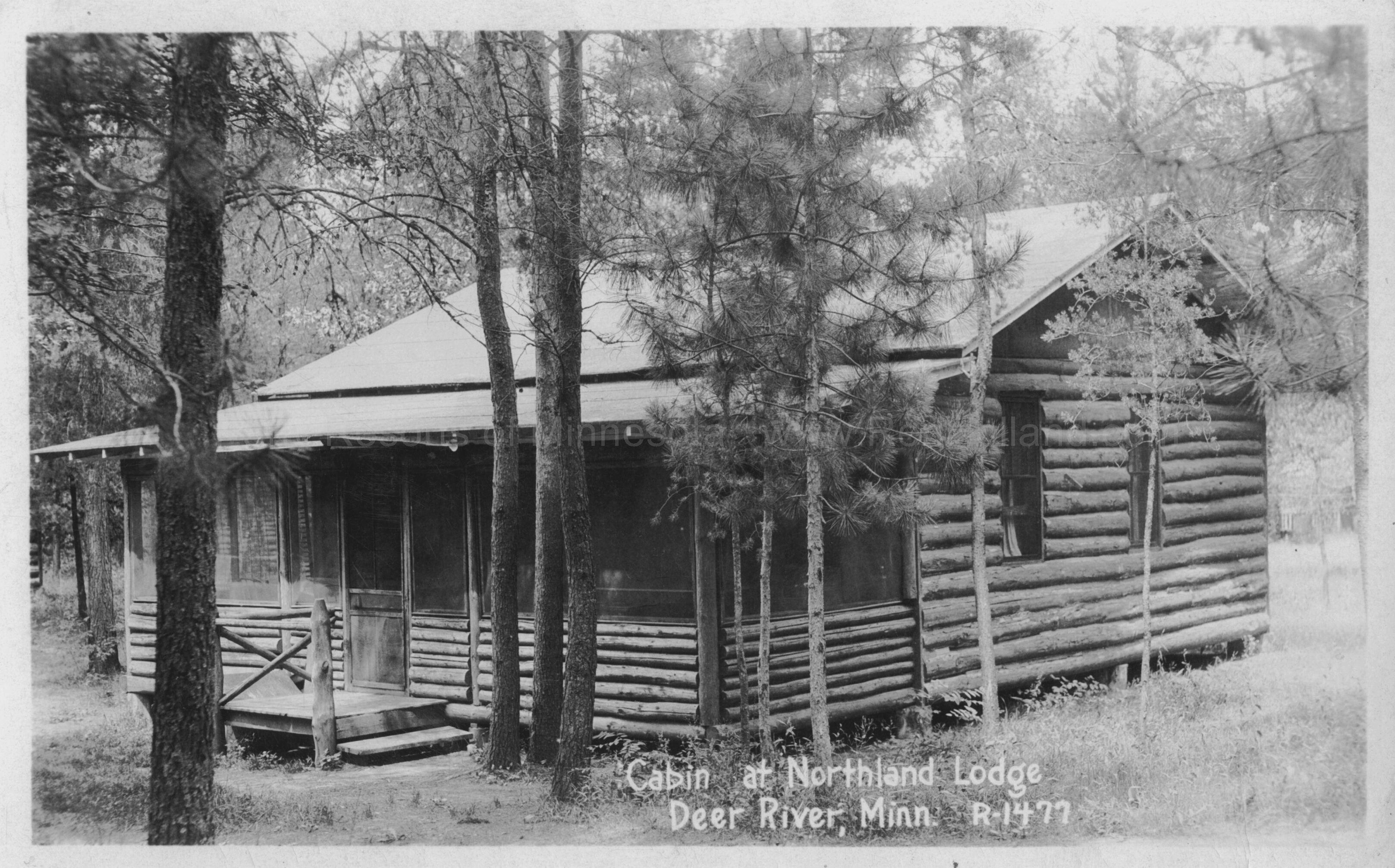 ... 18A Northland Lodge Cabin, Lake Winnibigoshish, Ca 1930 ...