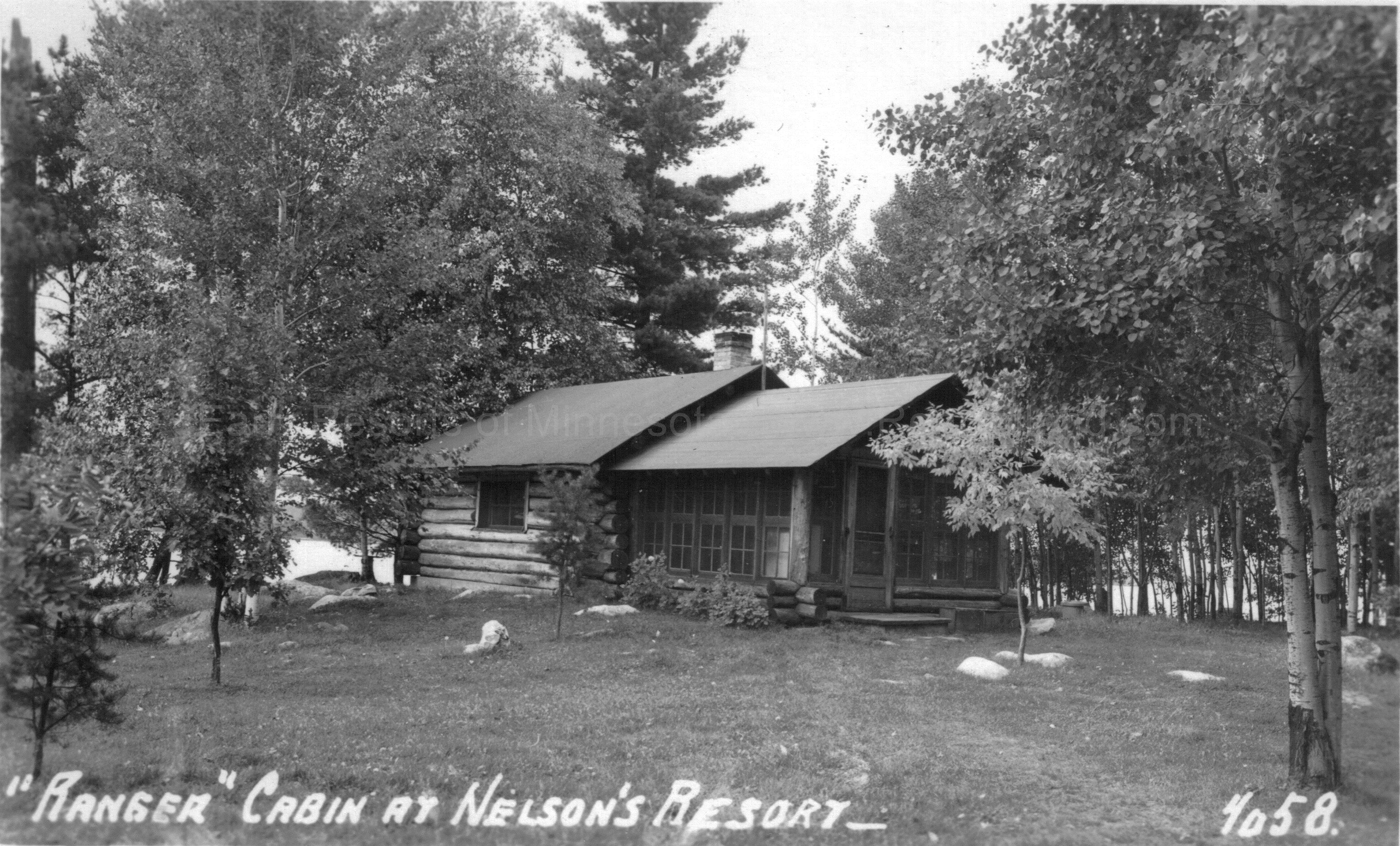 38b 1 Nelson S Ranger Cabin Crane Lake Ca 1940s