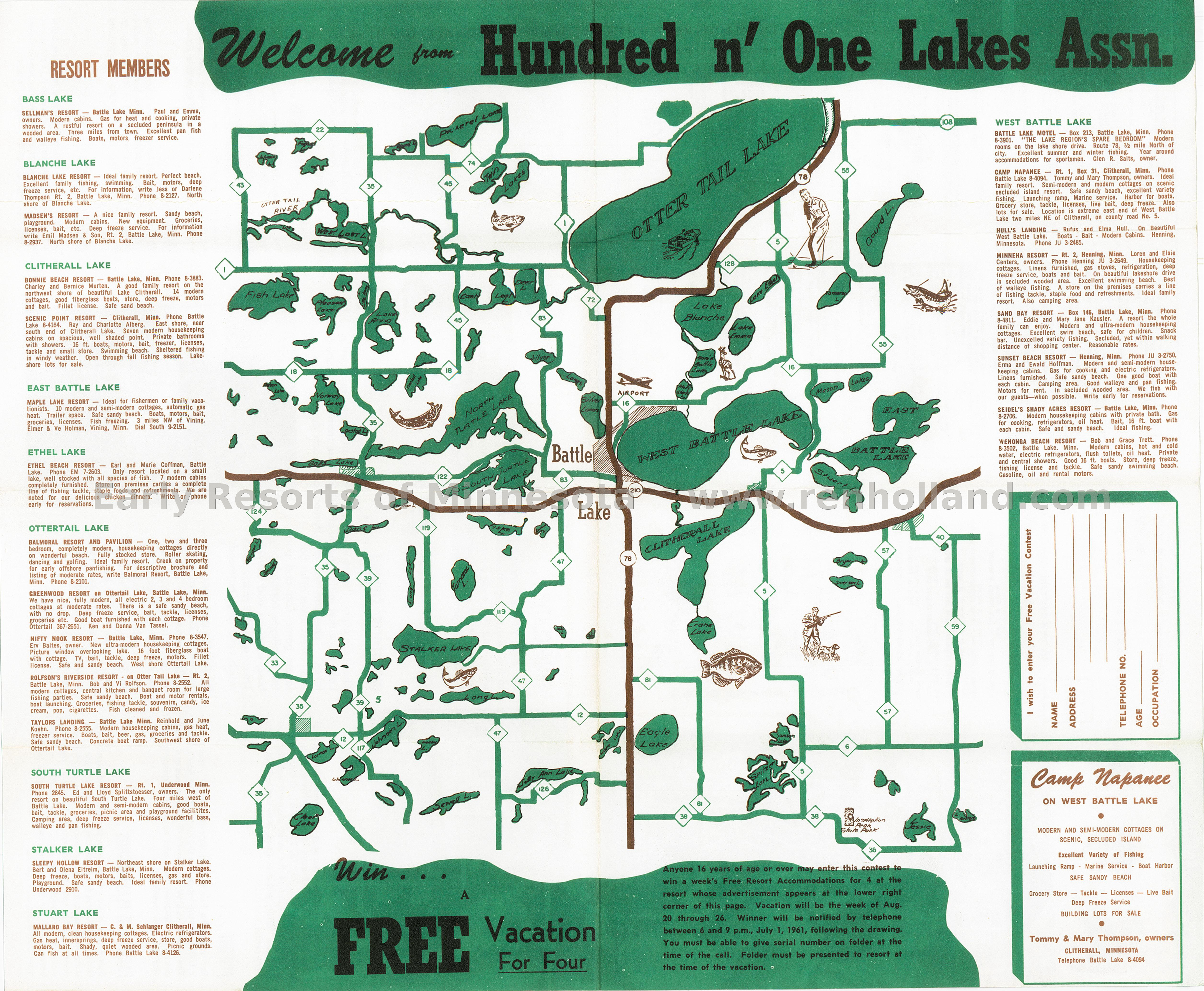 Early Resorts Of Minnesota Maps Ren Holland S Website