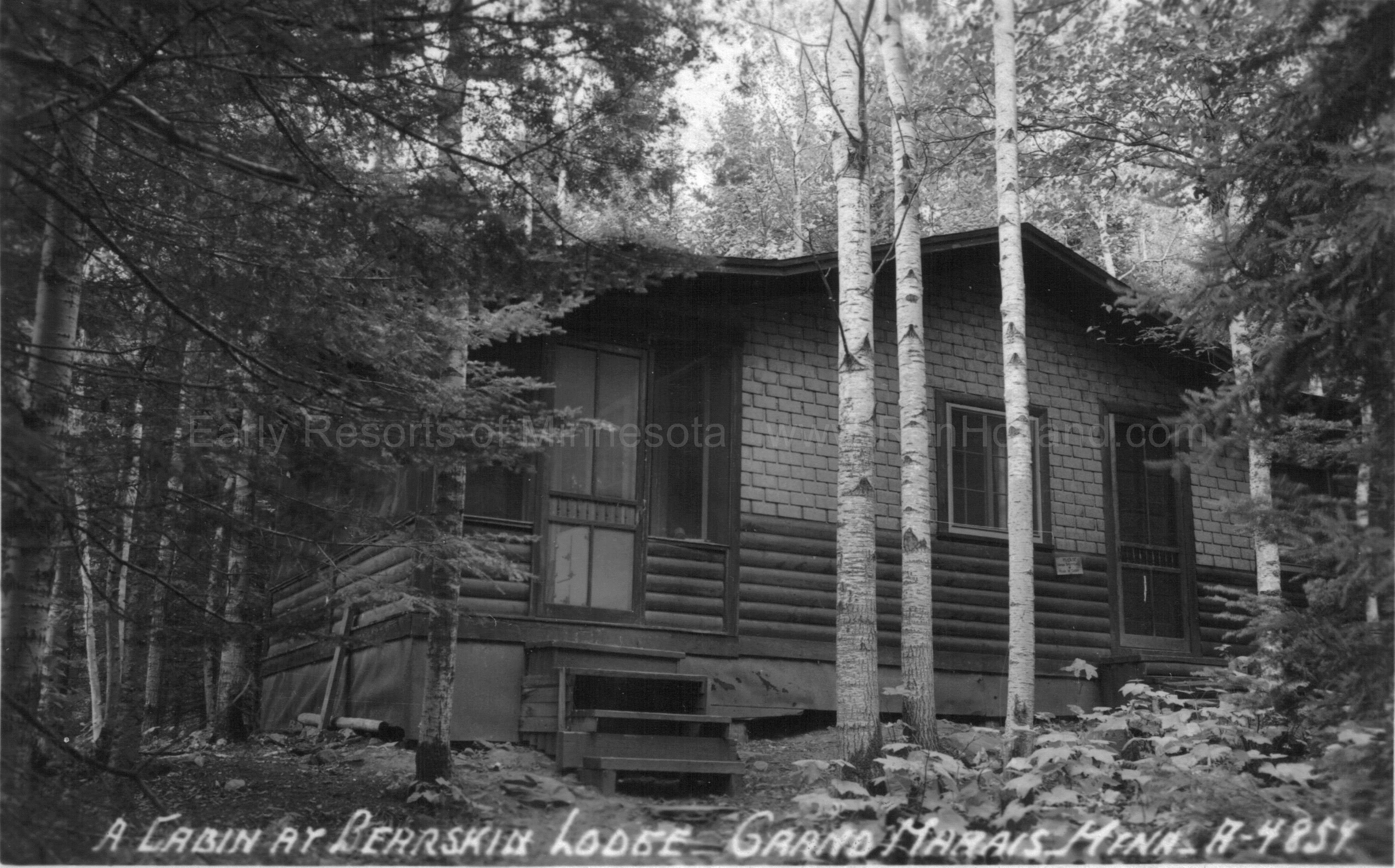 ... 54D Bearskin Lodge Cabin, Bearskin Lake, Grand Marais, Ca 1950 ...