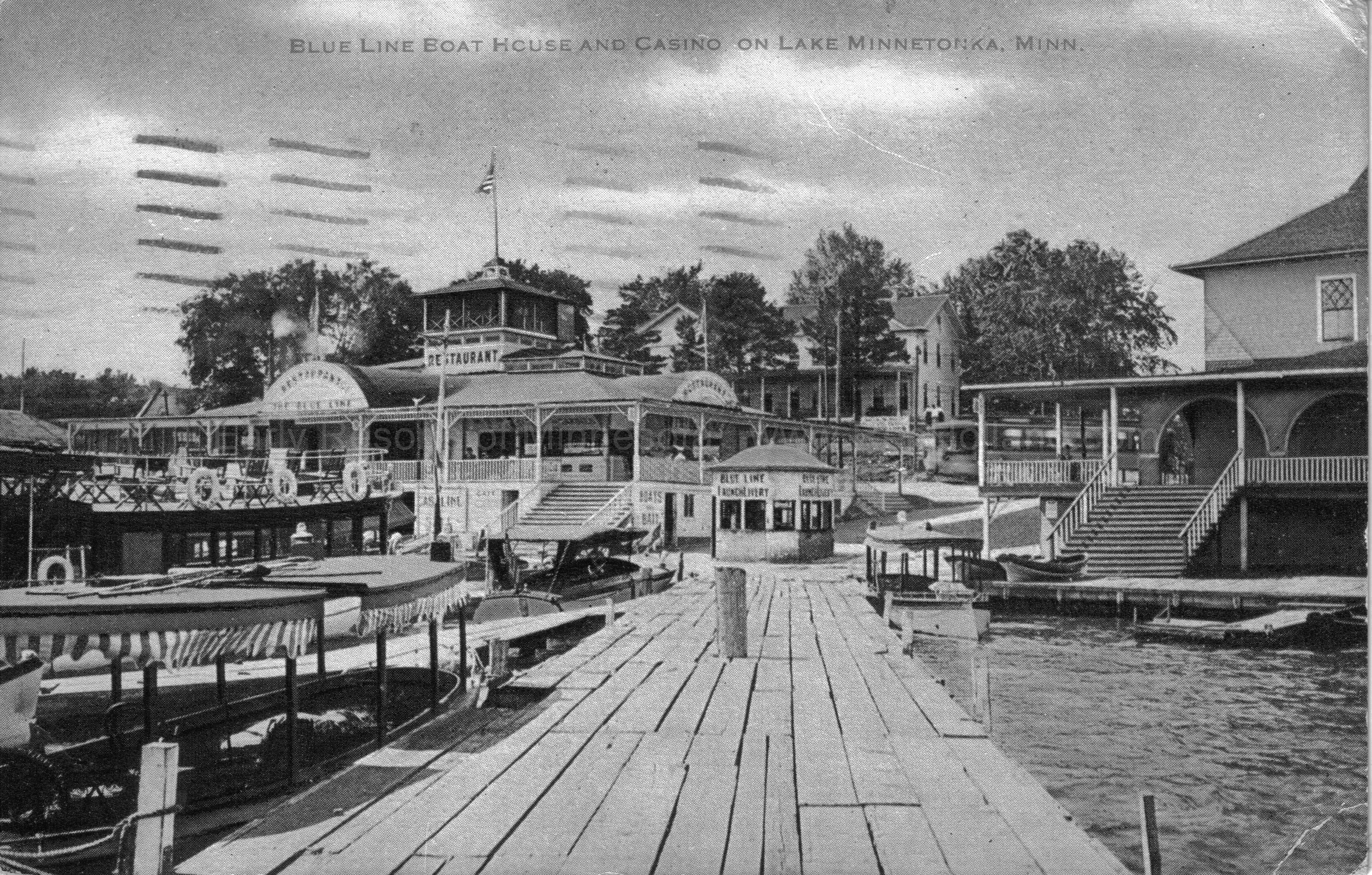 B Blue Line Boat House Casino Lake Minnetonka Ca