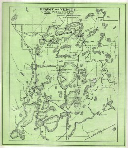 Pequot Lakes area map, ca 1926