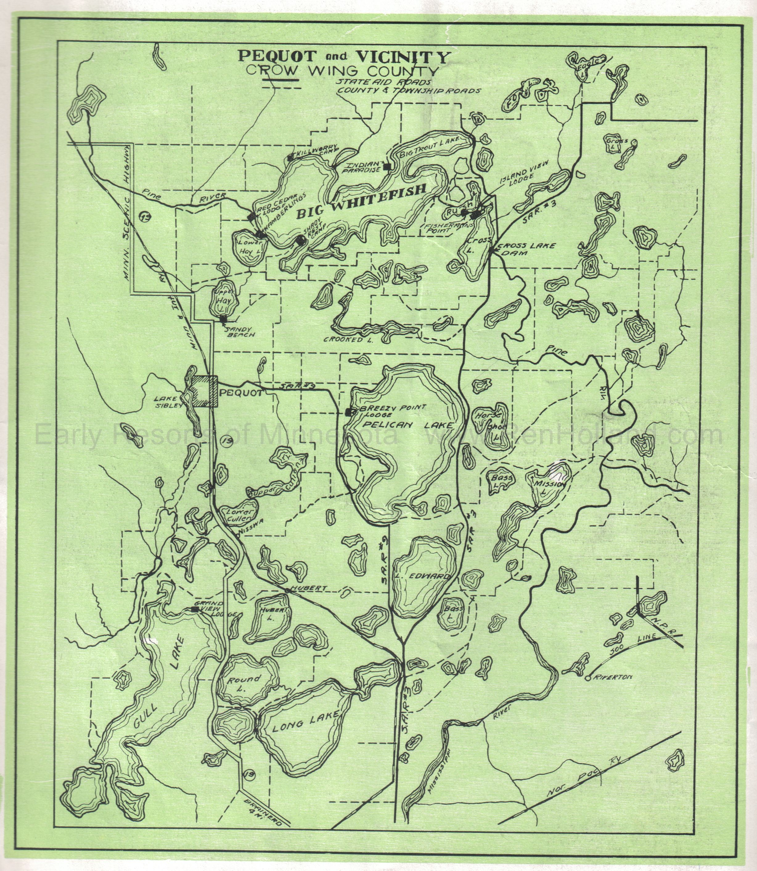 EARLY RESORTS OF MINNESOTA Maps  Ren Hollands Website