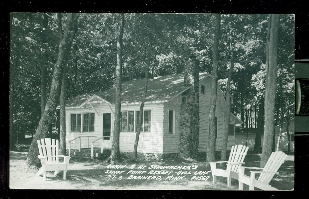 Brainerd mn gull lake madden lodge 2 ca 1970 for Sand point lodge