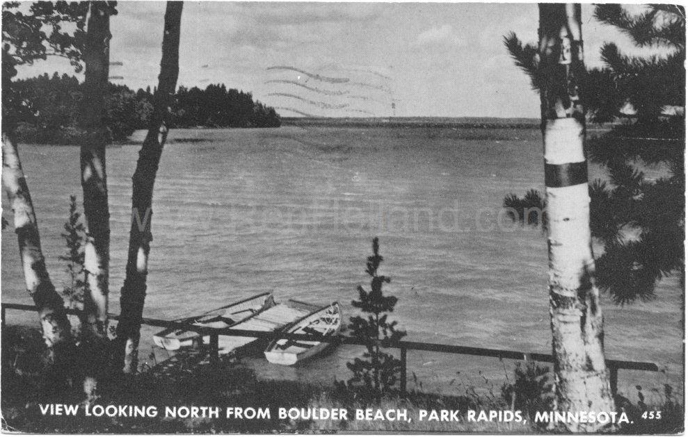Park Rapids Mn Potato Lake Boulder Beach Resort 3 Ca 1930s