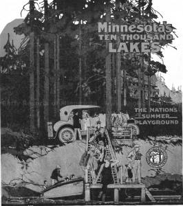 190B  10,000 Lakes poster