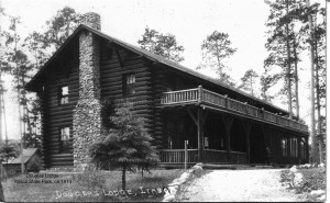 Douglas Lodge, Itasca State Park, ca. 1914 (click to enlarge)