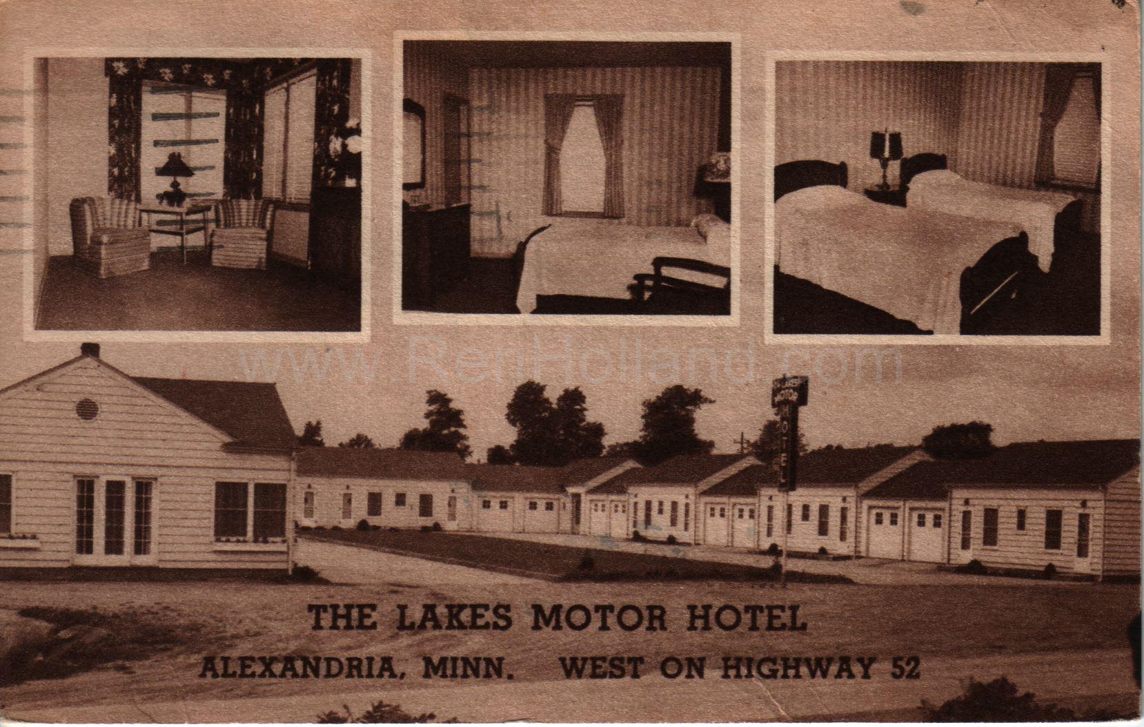 Alexandria The Lakes Motor Hotel Ca 1950s Anoka