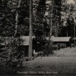 Scenic State Park cabins, ca 1940s (click on image to enlarge)