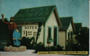 Brainerd, Lyonais Cabins, ca 1940s