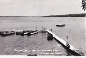 Geardink's Resort on Cedar Lake, Annandale, MN (click to enlarge)