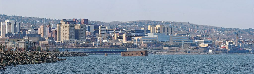 Duluth skyline, courtesy of Randen Pederson and Creative Commons license